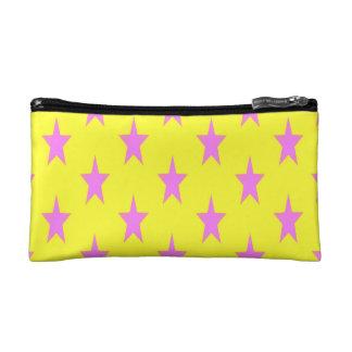 petit sac cosmétique de starcolors jaunes et roses