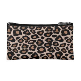 Petit sac cosmétique d'empreinte de léopard trousse de maquillage
