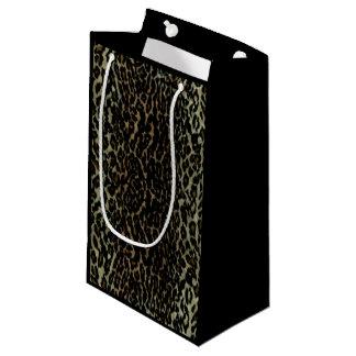 Petit sac de cadeau d'empreinte de léopard petit sac cadeau