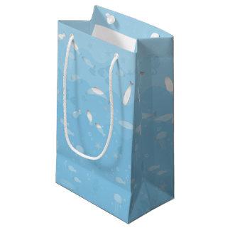 Petit sac de cadeau d'océan bleu