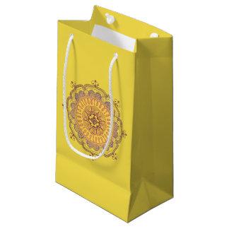 Petit sac de faveur de mandala élégant et coloré