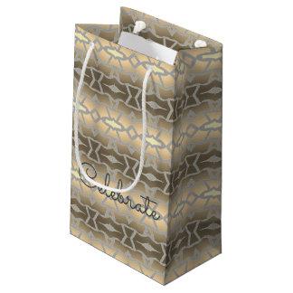 Petit sac de papier élégant de cadeau