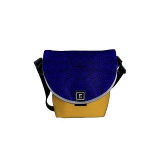 Petit sac messenger : bleu, jaune besace