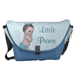 Petit sac vintage de couche-culotte de prince bleu sacoches