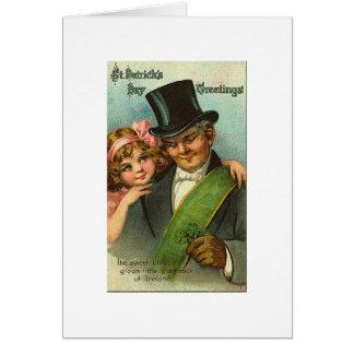 Petit shamrock St Patrick doux Carte De Vœux