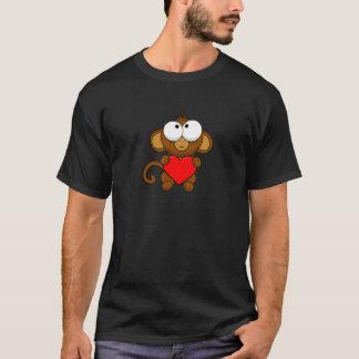 Petit singe mignon d'amour t-shirt