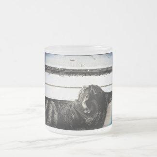 Petit somme vintage de fenêtre d'indigo mugs
