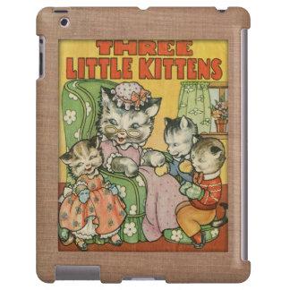 Petit style de couverture de vieux livre de chaton coque iPad