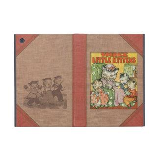 Petit style de couverture de vieux livre de chaton coque iPad mini