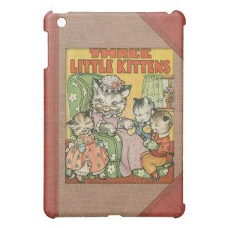 Petit style de couverture de vieux livre de chaton étui iPad mini