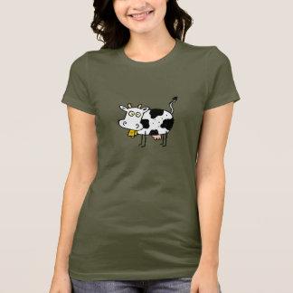 Petit T-shirt à ferme de dames géniales de vache