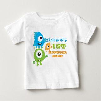 Petit T-shirt d'anniversaire de monstre, premier