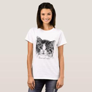 Petit T-shirt doux de chaton