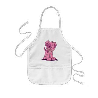 Petit tablier rose de cuisine de chiot