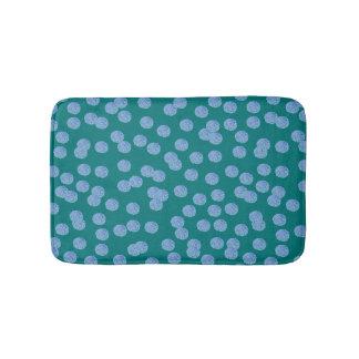 Petit tapis de bain de pois bleu