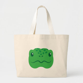 petit visage mignon de tortue de tortue grand sac