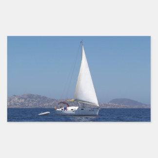 Petit yacht sous Gênes Autocollants En Rectangle