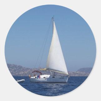 Petit yacht sous Gênes Autocollant