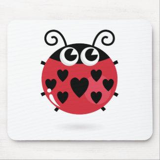 Petite abeille mignonne avec les points noirs tapis de souris