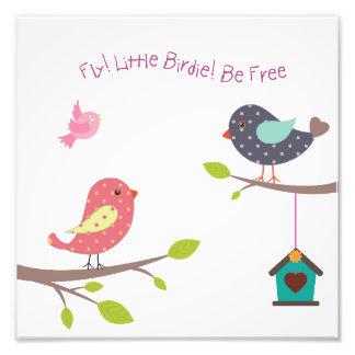Petite affiche d'oiseau pour des bébés et des photo d'art