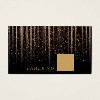 Petite averse d'or sur les cartes noires d'endroit