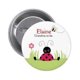 Petite bouton personnalisé de coccinelle par ÉTIQU Badge Rond 5 Cm