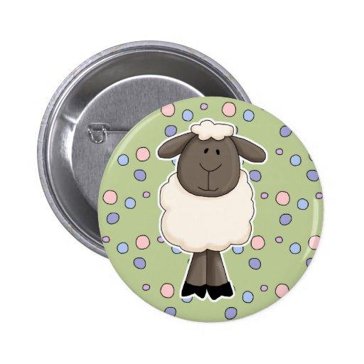 Petite brebis mignonne de moutons badge avec épingle
