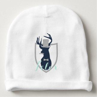 Petite calotte de coton de bébé d'homme de cerfs bonnet de bébé