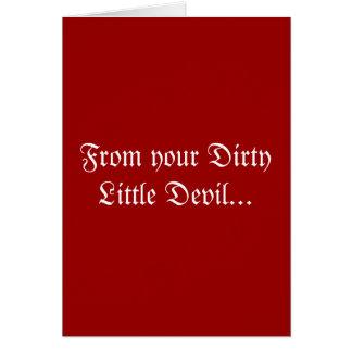 Petite carte de voeux sale de Valentines de diable
