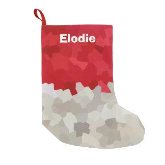 Petite Chaussette De Noël Abrégé sur rouge et blanc vacances de Père Noël