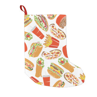 Petite Chaussette De Noël Aliments de préparation rapide d'illustration