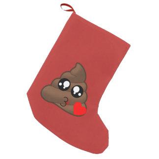 Petite Chaussette De Noël Amour Emoji de coeur de dunette
