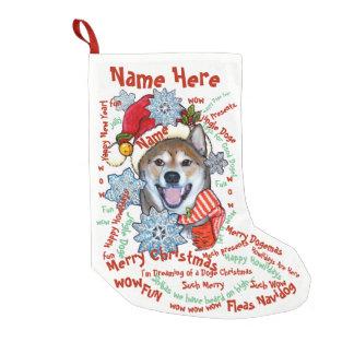 Petite Chaussette De Noël Animal familier de bas de Noël de doge de Shiba
