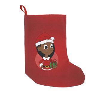 Petite Chaussette De Noël Bande dessinée de fille de Noël