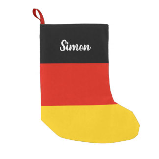 Petite Chaussette De Noël Bas allemand personnalisé de Noël de drapeau