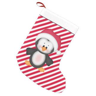 Petite Chaussette De Noël Bas de bande dessinée de vacances de pingouin de