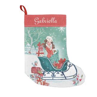 Petite Chaussette De Noël Bas de la fille d'achats de Sleigh de Noël |