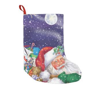 Petite Chaussette De Noël Bas de la livraison de jouet de Père Noël
