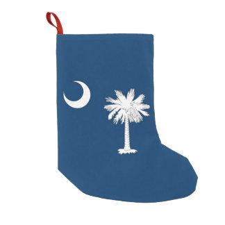 Petite Chaussette De Noël Bas de Noël avec le drapeau de la Caroline du Sud