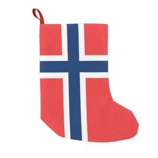 Petite Chaussette De Noël Bas de Noël avec le drapeau de la Norvège
