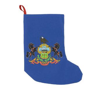 Petite Chaussette De Noël Bas de Noël avec le drapeau de la Pennsylvanie