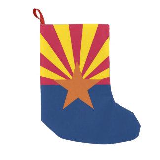Petite Chaussette De Noël Bas de Noël avec le drapeau de l'Arizona,
