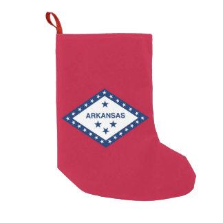 Petite Chaussette De Noël Bas de Noël avec le drapeau de l'Arkansas,