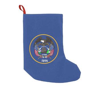 Petite Chaussette De Noël Bas de Noël avec le drapeau de l'Utah