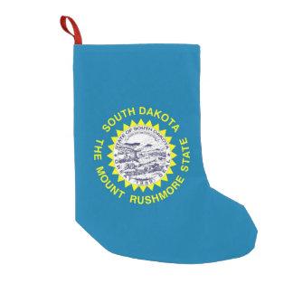 Petite Chaussette De Noël Bas de Noël avec le drapeau du Dakota du Sud