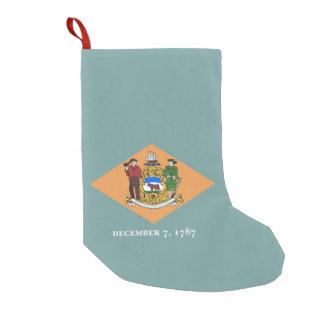 Petite Chaussette De Noël Bas de Noël avec le drapeau du Delaware,