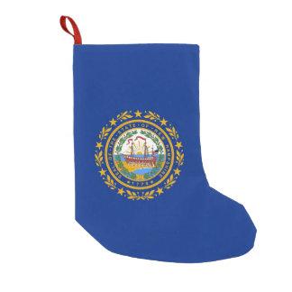Petite Chaussette De Noël Bas de Noël avec le drapeau du New Hampshire