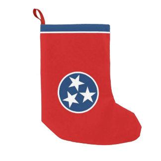 Petite Chaussette De Noël Bas de Noël avec le drapeau du Tennessee