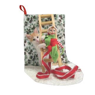Petite Chaussette De Noël Bas de Noël d'Annie - chat, chaton, délivrance