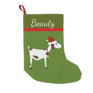 Petite Chaussette De Noël Bas de Noël de chèvre d'animal familier